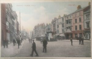 Hull . Market Square c1912, lots of detail. Unfranked