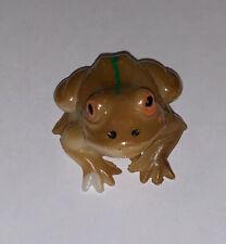 Rare! Vintage Hard Composite Plastic Frog Toad Figurines Painted Brown Figure K
