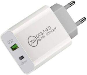 CARICABATTERIA CARICATORE USB-C 20W PER IPHONE 12 PER XIAOMI PER SAMSUNG S21