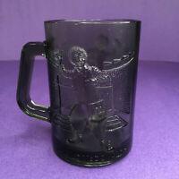 VINTAGE McDONALD'S Ronald McDonald MUG CUPS SMOKEY GRAY GLASS - 1970s