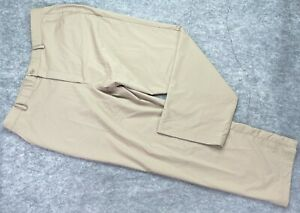 Under Armour Golf Pants Men 40 x 30 Brown Flat Front Polyester Spandex Logo
