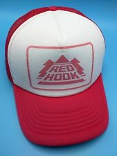 RED HOOK BEER trucker style white / red adjustable cap / hat