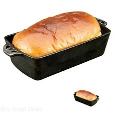 Bread Pan Cast Iron Cooking Party Cookware Kitchen Dinner Home 5.25 x 11 Inch