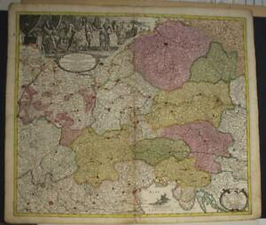 AUSTRIA CZECH REPUBLIC ITALY CROATIA 1719 HOMANN ANTIQUE COPPER ENGRAVED MAP