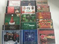 Lot of 15 Christmas Holiday Music Traditional Pop Rock Country Disney Hallmark