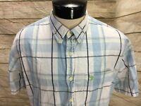 Duck Head Oxford Shirt SS Men's XL White Plaid