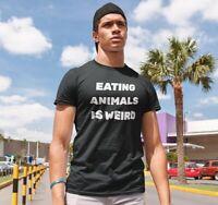 Eating Animals Is Weird Shirt Short Sleeve Vegan T-Shirt Unisex Tumblr Clothes