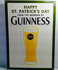 Guinness Blonde Beer Happy St Patricks Day Tin Sign Tacker