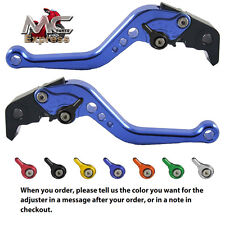 MC Short Adjustable CNC Levers Honda CB599 / CB600 HORNET 1998 - 2006 Blue