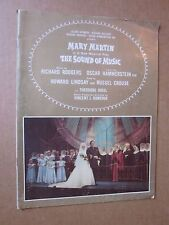 1961 SOUND OF MUSIC Program FLORENCE HENDERSON / JOHN MYHERS Tour w/ticket stub