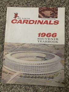 1966 St Louis Cardinals Yearbook And Scorecard vs San Francisco