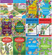ADULT COLOURING BOOK BOOKS Mindfulness Anti-Stress ANIMALS RELAX WITH COLOUR