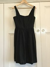 Emerge Ladies Size 12 Black Linen Blend Sleeveless Dress New With Tags