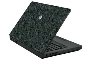 LEATHER Vinyl Lid Skin Cover Decal fits HP ProBook 6560b 6570b Laptop