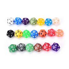 D20 gaming dice twenty sided die number 1-20 for RPG game*-*