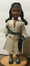 Vintage Indian OGLALA SIOUX Leather Clothed Plastic Heritage Dolls Mother & Baby