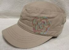 Pugs Gear Khaki Military Cadet Cap Hat with w/ Sequin Flower NWT Orig.$19.99