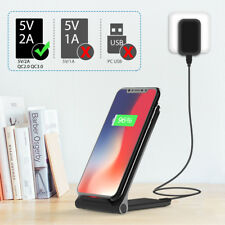 Zoeview Qi Wireless Fast Charging Charger Stand Dock Pad for Samsung iPhone HTC