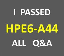HPE6-A44 HP6-A44 Scalable WLAN Design and Implementation (SWDI) 8 Exam Q&A PDF