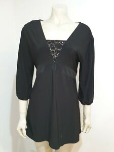 Ricki Renee Black Long Sleeve Sequin Blouse Size 18