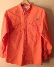 Men's Small Columbia Performance Fishing Gear Orange Shirt