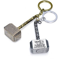 Marvel The Avengers Thor Thor's Hammer Metal Keyring Keychain Silver Gold Hot