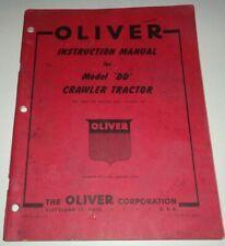 Oliver Dd Crawler Tractor Operators Instruction Service Manual 151 Original