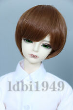 "7-8""1/4 BJD Doll Dollfie Wig LUTS DD SD Wig Short Brown Hair B01"