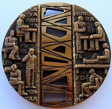 Finland Bronze Art Medal Helsinki Telephone Association 100 Years 250g 70 mmN140