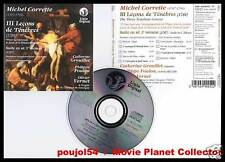 "CORRETTE ""III Leçons de Ténèbres"" (CD) O.Vernet 1997"