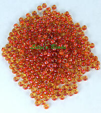 8/0 Round TOHO Japan Seed Glass Beads #951-Jonquil/Brick Red Lined 10 grams