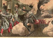 54 BLAINVILLE CHEF DE GARE COLLOT MEURT SAUVANT SOLDATS TRAIN IMAGE 1908