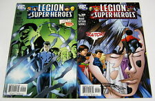 Legion of Super-Heroes #9 & #10 Both Signed by Barry Kitson LoSH DC COMICS 2005
