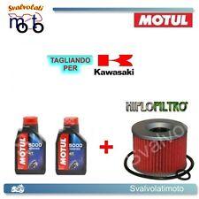 TAGLIANDO FILTRO OLIO + 2LT MOTUL 5000 10W40 KAWASAKI EX NINJA 250 R 2012