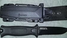 Gerber Strongarm Black Fixed Blade Partially Serrated Knife BNIB