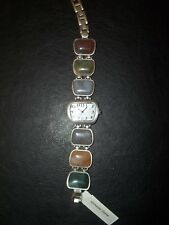 Coldwater Creek Brown Jewelry Multi Stone Womens Bracelet New with Tags