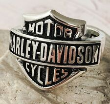 Harley Davidson Motorcycle Logo Ring Solid 925 K Sterling Silver  Mens Ring