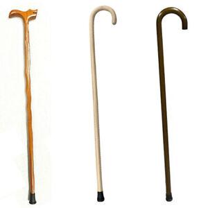 93cm Wooden Walking Stick Wood Cane Pole Carved Varnished Deluxe Sturdy Beige AU