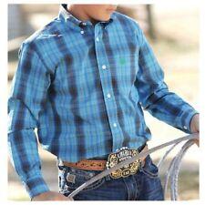 Cinch Boy/'s Purple White Plaid L//S Shirt MTW7060174 SALE