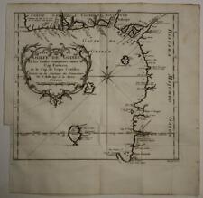 GULF OF GUINEA NIGER GABON 1746 BELLIN ANTIQUE ORIGINAL COPPER ENGRAVED MAP