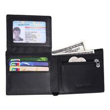 Fashion Carbon Fiber Men Leather Wallet Credit Card Holder with Coin Pocket