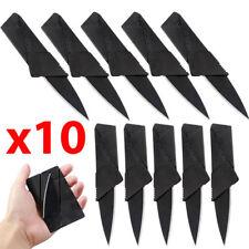 10pcs Portable Cardsharp Mini Foldable Pocket Thin Knife Outdoor Survival Tool