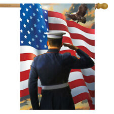 "America's Heroes Military House Flag Usa Pride Troops 28"" x 40"" Briarwood Lane"