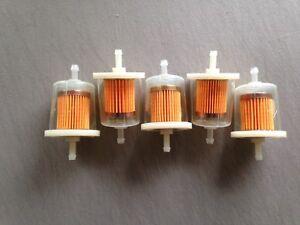 """FIVE(5) GKI GF68PL 1/4"""" Plastic Inline Gas Filter LOT fits G1 33001 F20117"""