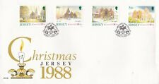 Jersey 1988 Christmas FDC unaddressed VGC