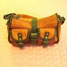 Borsa borsetta Donna ragazza Fiorucci Usata A Spalla Arancione marrone ruggine