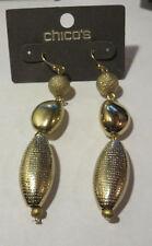 Earrings Nwt Chico'S Gold Dangle