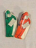(2) Vintage 1950s Spaceman Astronaut Return to Earth Children's Eyeglass Cases