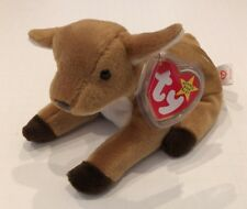 RARE RETIRED WHISPER THE FAWN TY BEANIE BABY DOB APR 5, 1997 TAGS WITH ERRORS
