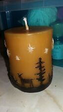 Beeswax Deer Pillar Candle